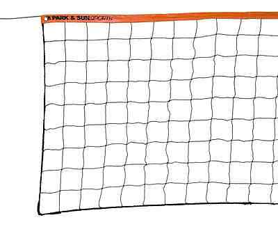Park & Sun Steel Cable Volleyball Net 1-1/2-Inch Top Tape Durability Lasting
