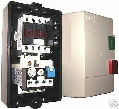 START STOP BOX CONTACTOR OVERLOAD 4-6A 120V PLASTIC ENCLOSURE UP TO 575V 12Hp