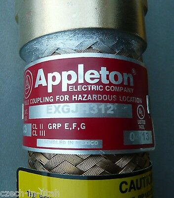 "Appleton Exgjh312 1"" X 12"" Explosion Proof Flexible Coupling"