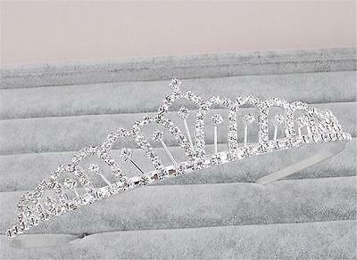 Beaded Crown AliceBand Crystal Wedding Headband Diamante Bridal Gown Accessories