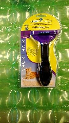 FURminator Short Hair deShedding Tool for Cats, Large Over 10 lbs 010942