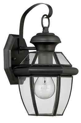 Outdoor Wall Light Portfolio Brayden 14.13 in. H Mystic Black Steel Fixture NEW
