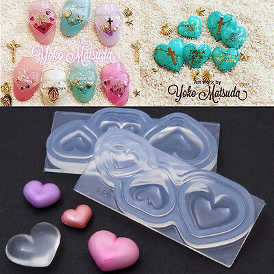 4 Design 3D Cabochon Silicone Mold Mould Resin Pendant Jewelry Making Craft X1
