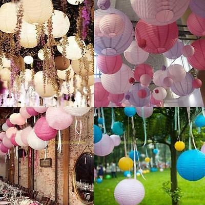 Foldable Multicolor Round Chinese Paper Lanterns Wedding Party Decoration