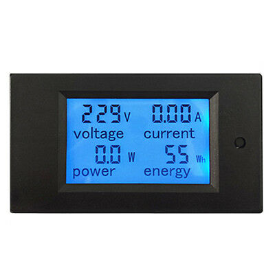 AC80-260V 20A/100A LCD Digital Amp Voltage Current Power Meter Ammeter Voltmeter
