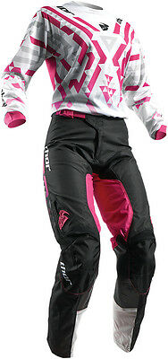 Completo Donna Cross Thor Pulse Facet S7 Offroad White/magenta