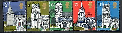 GB 1972 British Architecture 3rd series churches unmounted min set stamps