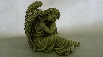 Large Angel Of Peace Statue Figurine Ornament Garden Sculpture Poly Resin