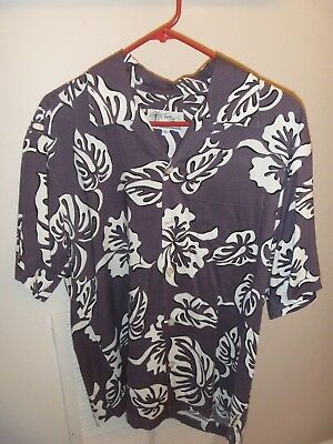 22b8a73b MEN'S TOES ON THE NOSE Embroidered Hawaiian Camp Shirt Sz M - $26.95 ...