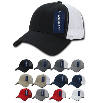 b967073009fae DECKY LOW CROWN Mesh Golf 6 Panel Pre Curved Bill Dad Caps Hats ...
