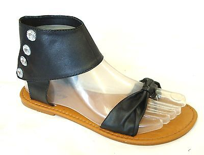 New Women's Jewel Ankle Strap Gladiator Flat T-Strap Sandals Clearance--8058L