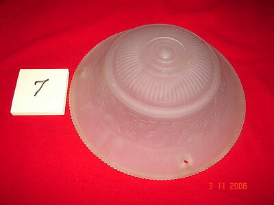 Art Deco Depression Era Ceiling Shade # 7 - Frosted Flowers - 3 Hole Mount