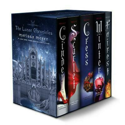 The Lunar Chronicles Boxed Set by Marissa Meyer Hardcover Book (English)