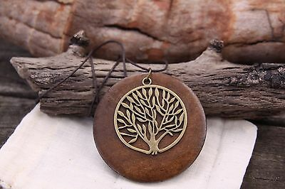 Tree of Life Pendant Wooden Necklace