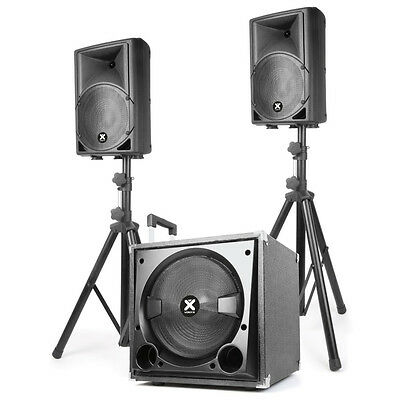 Max 800Bt/vonyx Vx800Bt 12″ Split Pa System With Bluetooth 800W