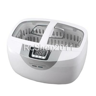 2.5L Digital Ultrasonic Cleaner f Dental Jewerly Stainless Steel w/ Timer Heater