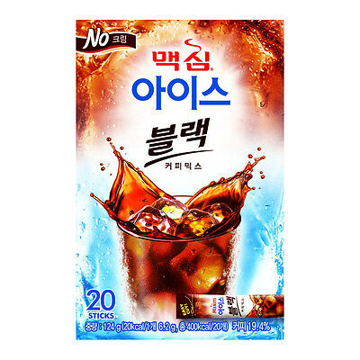 [20 Sticks] Maxim Ice Black Instant Coffee Mix Easy Cut + Free Tracking Number