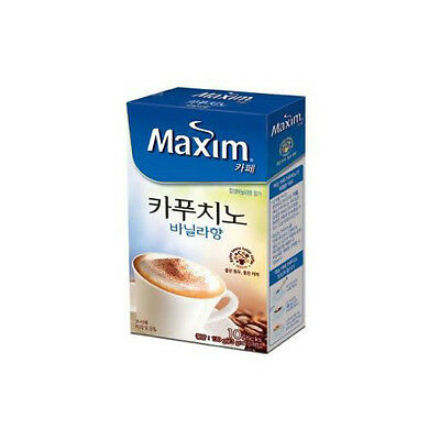 [10 Sticks] Maxim Cappuccino Vanila Coffee Mix Easy Cut + Free Tracking Number