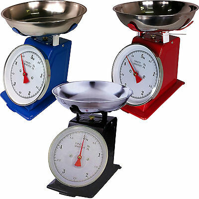 Traditional 5Kg Heavy Weighing Kitchen Weight Scale Bowl Retro Scales New