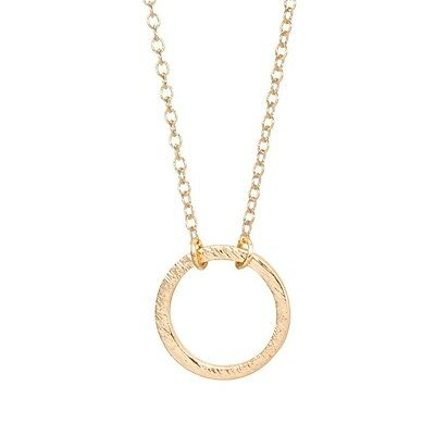 """minyma """"Open Circle"""" Kreis Halskette Ring Kette Coin Necklace minimal gold"""