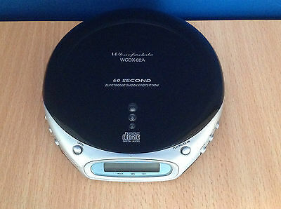 Wharfedale Model WCDX-82A Personal Portable CD Player 60 Second Shock Protection
