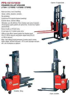 1.0 Tons DC Electric Standing Powered Hydraulic Pallet Truck