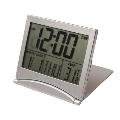 Digital LCD Display Desk Alarm Clock Calendar Date Time Thermometer New