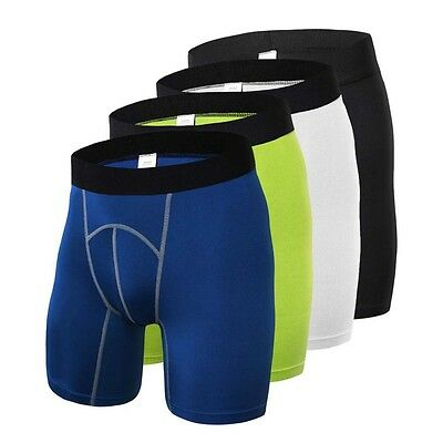 Men Sports Compression Tights Base Layer Under Running Fitness Shorts Soft Pants
