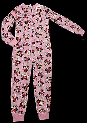Disney Minnie Mouse Strampler Schlafoverall Jumpsuit 128 134 140 146 152 158 Neu