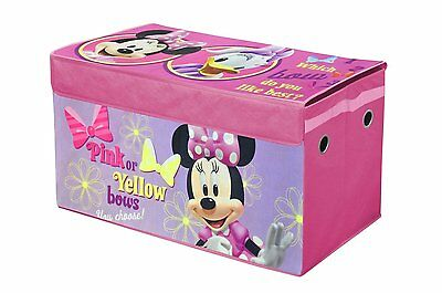 Disney Minnie Mouse Collapsible Storage Trunk Kids Toy Box NEW