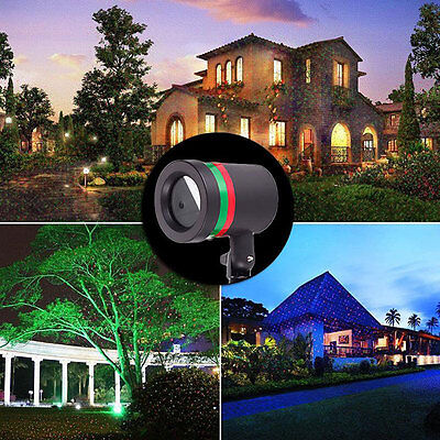 Outdoor X-mas Red Laser Projector R&G Landscape Christmas Decor Xmax Light