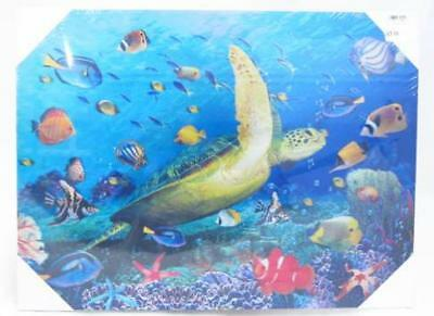 Dolphin Whale Turrtle 3D Canvas Wall Picture Poster Art Print Hang Decor A3