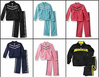 * NWT NEW GIRLS PUMA TRACKSUIT Tricot PANTS WINTER OUTFIT SET 2T 3T 4T 4 5 6