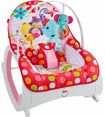 Fisher Price Infant-To-Toddler Rocker, Flowery Chevron, New NO Sales Tax~