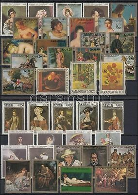 Paraguay stamp 1966-1972 Paintings 62 stamps 1966 MNHWS208763