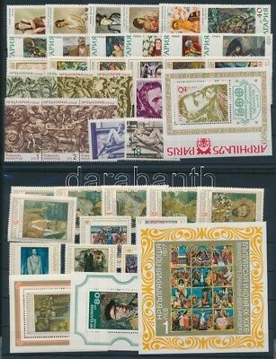 Thematic lot stamp Bulgaria Painting 7 sets and 4 blocks MNH WS212468