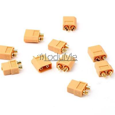 10Pairs 20PCS XT60 Bullet Connectors Plugs Female&Male For RC LiPo Battery MO