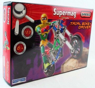 Supermag Magnetspielzeug Trial Bike Driver Plastwood 0425
