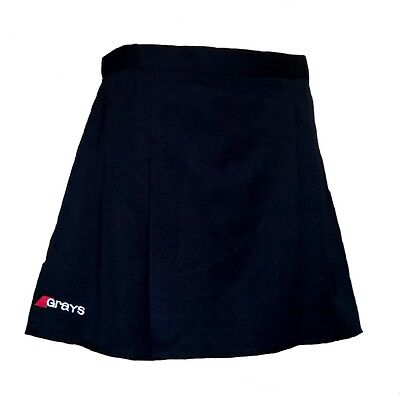 "Womens 26"" GRAYS Skirt BLACK Hockey Netball Tennis Blue"