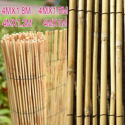 Alondy Garden Outdoor Reed Fence Screening Rolling Wooden Screen Fencing Panel