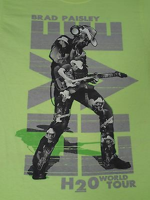 Brad Paisley - H2O Frozen Over - World Tour 2010 -Small Neon Green T-Shirt-C1587