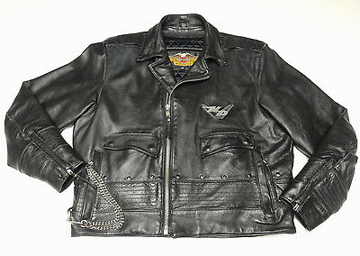 Harley Davidson Classic Road King Leather Jacket Mens Large Lg *made In Usa* 134