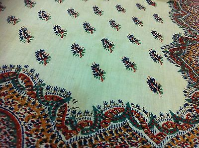 Antique Kashmir Paisley Shawl Print with Rare Floral Butehs & Intricacies 19th C