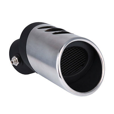 Universal Stainless Steel Car Truck Rear Silver Exhaust Pipe Tail Muffler Tip