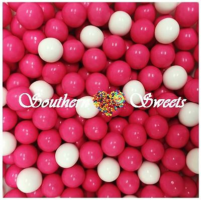 Pink & White Chocolate Candy Balls 1Kg Pink & White Lollies Choc Centre