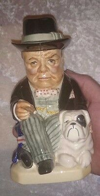 Kevin Francis Little Winston Bulldog Toby Jug RARE!!!!! Ships in 24 hours!