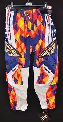 Nwt! Fly Racing Kinetic Men's Riding Pant (Deviant Pattern) Size 28