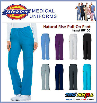 NWT Dickies EDS MEDICAL Scrub Women NATURAL RISE PULL ONE PANTS 86106 Uniforms
