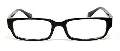 Cool Retro Style Clear Lens Glasses Broadway Fashion Rectangular Black Frame 153