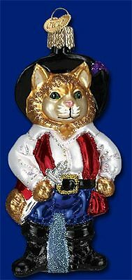 """Puss N Boots"" (12375) Old World Christmas Glass Ornament"